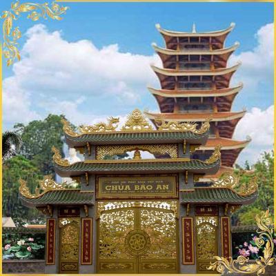 Công trình cổng nhôm đúc Chùa Bảo Ân - Bà Rịa - Vũng Tàu