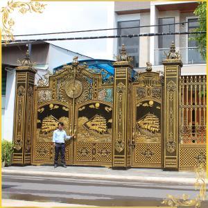 Công trình cổng nhôm đúc nhà Anh Sơn Cao Long Bình Biên Hòa