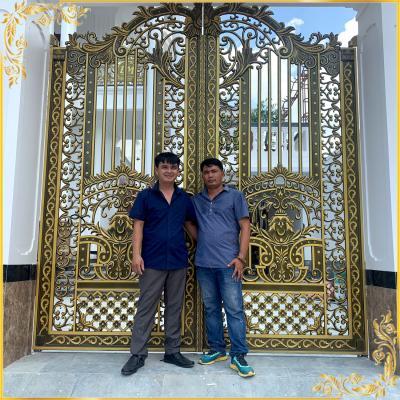Công trình cổng nhôm đúc nhà Anh Lễ Phan Thiết