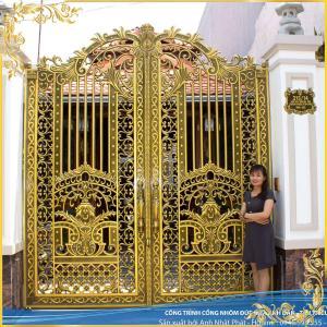 Công trình cổng nhôm đúc Hoa lá tây tại Vĩnh Cửu Biên Hòa