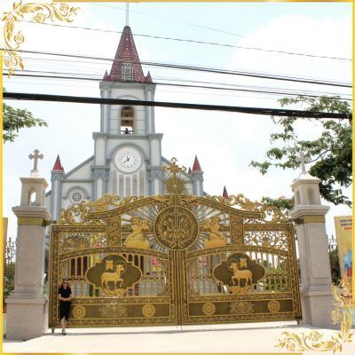Công trình cổng nhôm đúc Nhà thờ An Chu