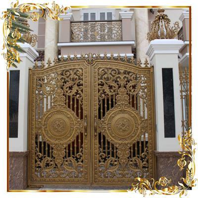 Cổng nhôm đúc Hoa lá tây 11