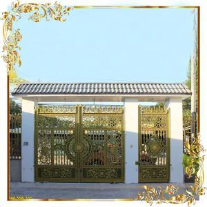 Cổng nhôm đúc trúc mai hóa rồng