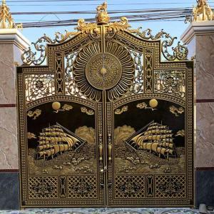 Công trình cổng nhôm đúc Thuận Buồm Xuôi Gió nhà Chú Nghiều - Trảng Bom - Đồng Nai