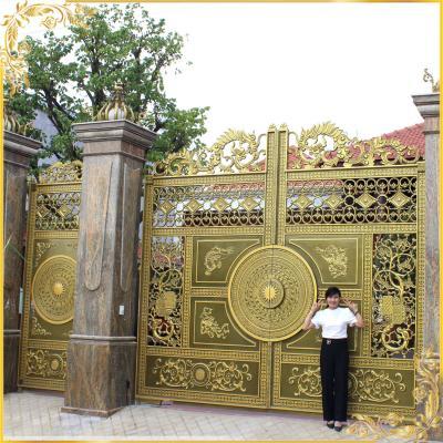 Công trình cổng nhôm đúc trống đồng tứ linh tại Biên Hòa