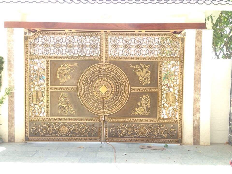 cổng nhôm đúc trống đồng