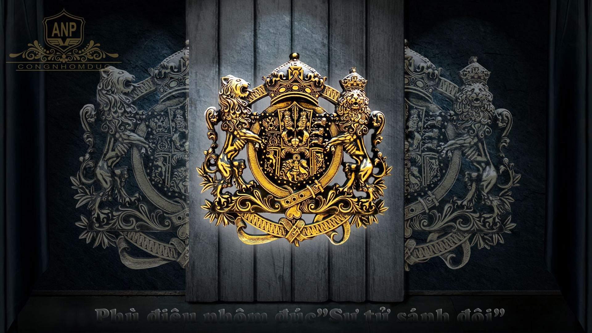 cổng nhôm đúc sư tử