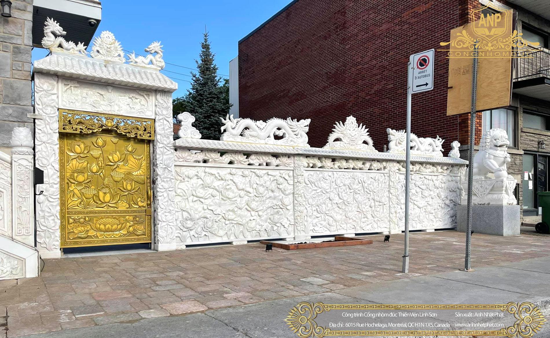 công trình cổng nhôm đúc Canada
