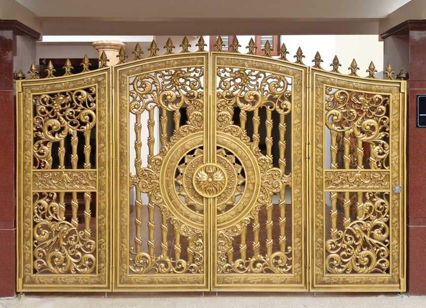 cổng nhôm đúc tứ linh