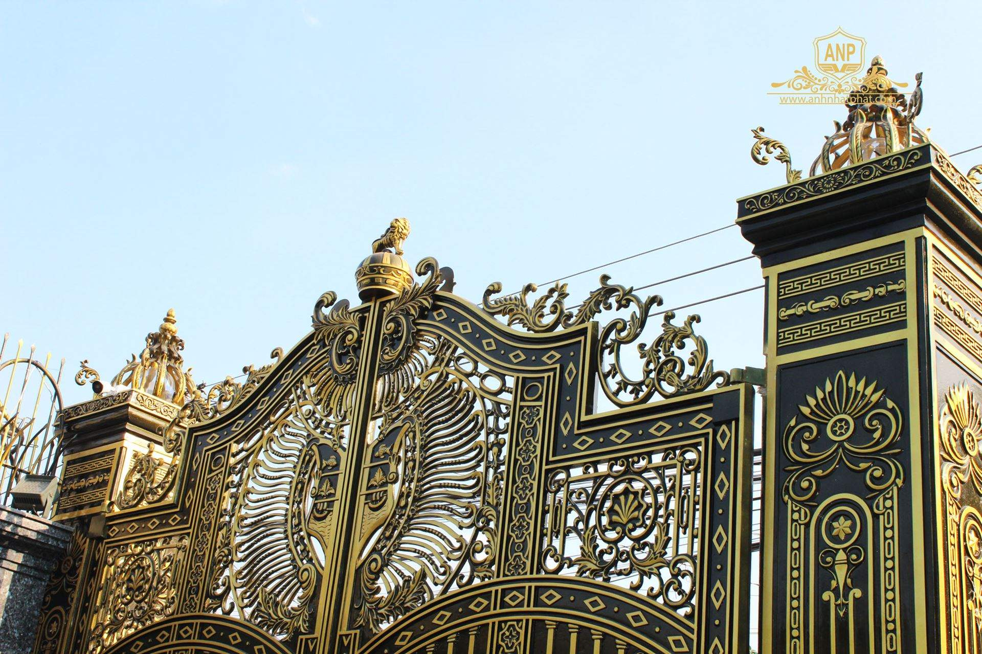 công trình cổng nhôm đúc