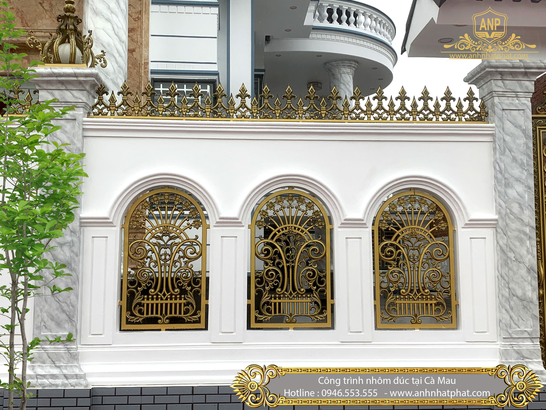 công trình cổng cửa nhôm đúc