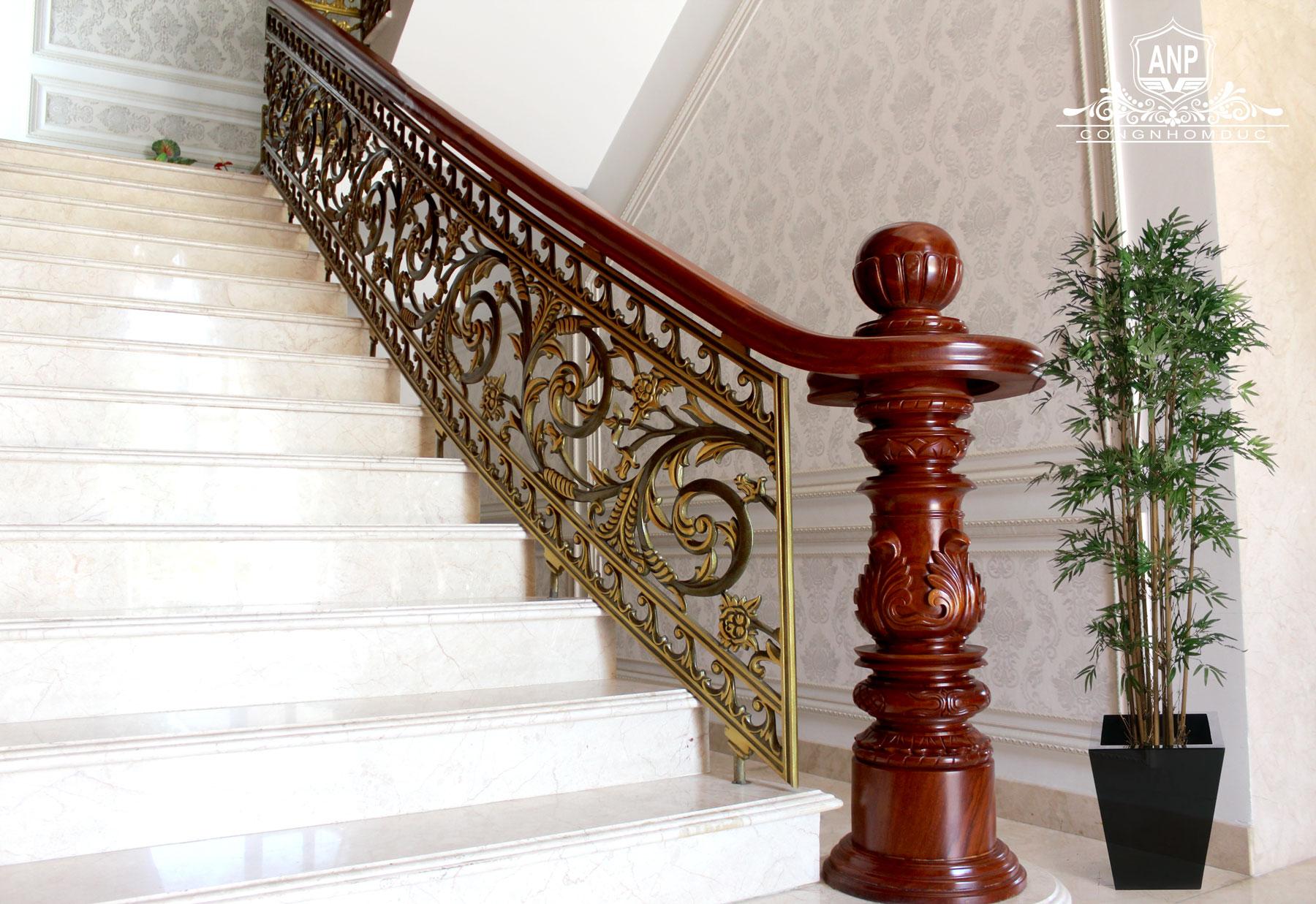 công trình cầu thang nhôm đúc